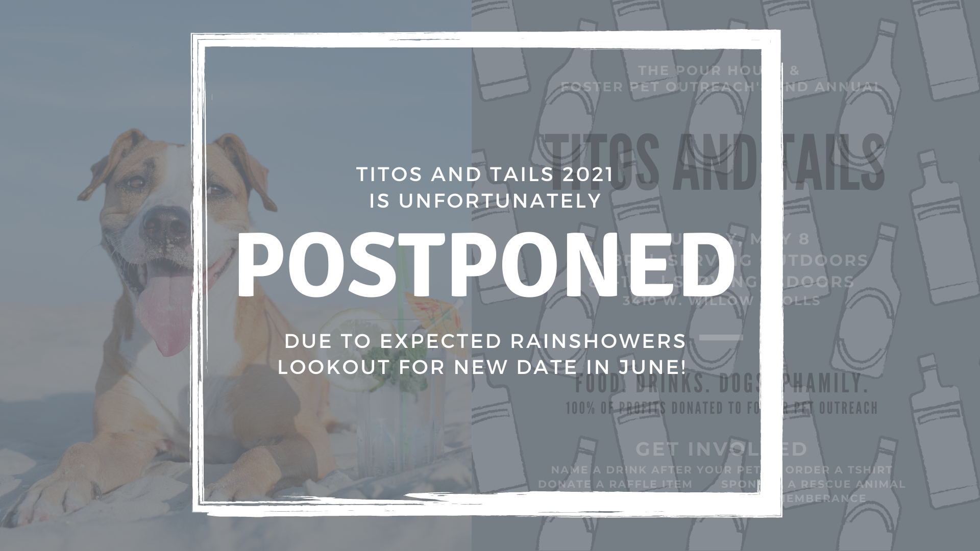 Titos and tails rain
